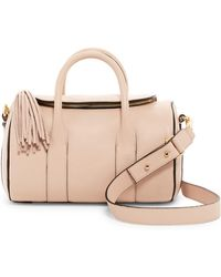 MILLY - Astor Leather Duffle - Lyst