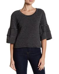 Caslon - 3/4 Bell Sleeve Striped Blouse - Lyst