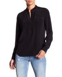 AllSaints - Marie Silk Shirt - Lyst