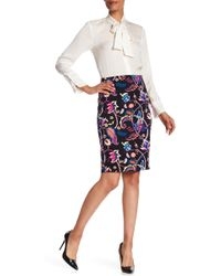 Philosophy Apparel - Floral Vented Pencil Skirt - Lyst