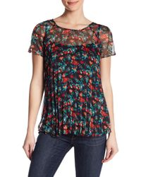 Eva Franco - Pleated Floral Top - Lyst