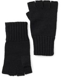 ac40a9d8c Lyst - John Varvatos Ribbed Leather Fingerless Gloves in Black for Men