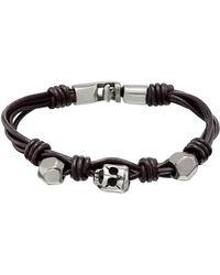 Uno De 50 - Audacious Knotted Bead Leather Bracelet - Lyst