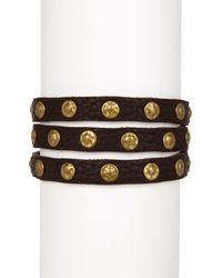 Frye - Nikki Nail Head Leather Cuff - Lyst