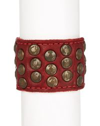 Frye - Stud Leather Cuff - Lyst