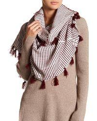 Roffe Accessories - Pattern Knit Scarf - Lyst