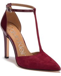 Calvin Klein - Brandy Suede & Leather Stiletto - Lyst