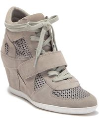 Ash - Bowie Suede Perforated Wedge Sneaker - Lyst