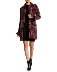 Endless Rose - Tweed Coat With Velvet Buttons - Lyst