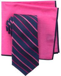 Ted Baker - Alternating Satin Striped Tie Set - Lyst