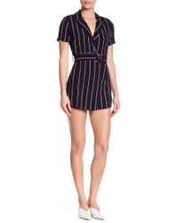 Dress Forum - Striped Wrap Romper - Lyst