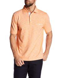 Thomas Dean - Short Sleeve Knit Regular Fit Polo - Lyst