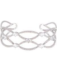 Nadri - Adella Cz Scalloped Cuff Bracelet - Lyst