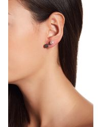 Ariella Collection - Double Bar Earrings - Lyst