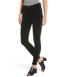 Band Of Gypsies - Lola Studded Skinny Jeans - Lyst