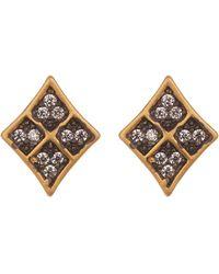 Freida Rothman - Contemporary Deco Cz Stud Earrings - Lyst