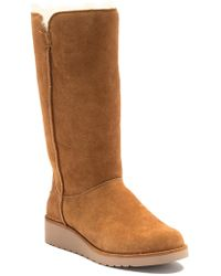 UGG - Classic Slim Tall Genuine Shearling & Faux Fur Lined Boot (women) - Lyst