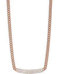 Swarovski - Vio Crystal Bar Pendant Necklace - Lyst