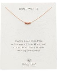 Dogeared - Three Wishes Stardust Beads Necklace - Lyst