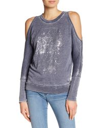 William Rast - Whitney Cold Shoulder Sweatshirt - Lyst