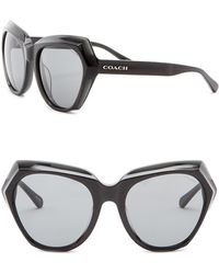 COACH - 55mm Geo Cat Eye Sunglasses - Lyst