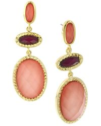 1928 - Stone Drop Earrings - Lyst