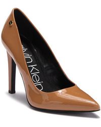 Calvin Klein - Brady Patent Leather Pointed-toe Pump - Lyst