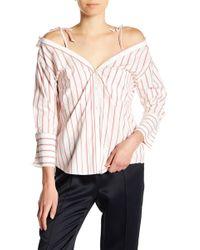 Joie - Alvina Striped Cold Shoulder Top - Lyst