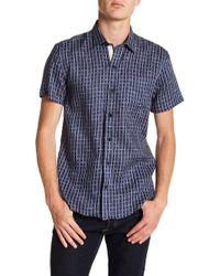 W.r.k. - Check Short Sleeve Linen Shirt - Lyst