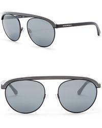 Emporio Armani - 56mn Round Aviator Sunglasses - Lyst