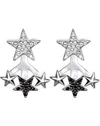 Karl Lagerfeld - Eclectic Swarovski Crystal Accented Star Jacket Earrings - Lyst