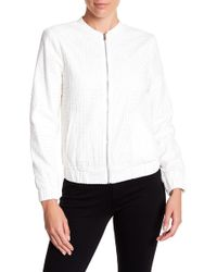 1.STATE - Long Sleeve Zip Front Bomber Jacket - Lyst