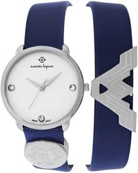 Nanette Lepore - Women's Wonder Woman Double Wrap Swarovski Crystal Embellished Leather Watch - Lyst