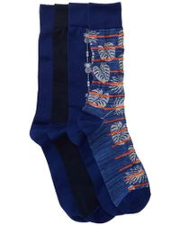 Tommy Bahama - Deep Space Crew Socks - Pack Of 4 - Lyst