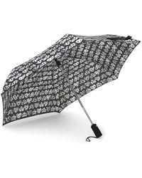 Betsey Johnson - Leopard Patterned Auto Open & Close Umbrella - Lyst