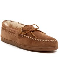 Minnetonka - Genuine Sheepskin Fur Moccasin (men) - Lyst