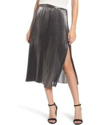 Trouvé - Metallic Pleated Skirt - Lyst