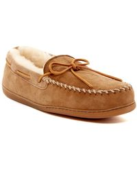 Minnetonka - Genuine Sheepskin Hardsole Moccasin (men) - Lyst