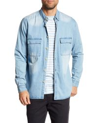 Barney Cools - Worker Long Sleeve Button Down Regular Fit Shirt - Lyst