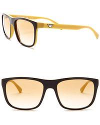 Emporio Armani - Men's 56mm Squared Sunglasses - Lyst