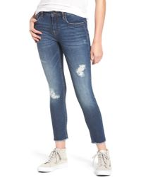 Vigoss - Whatever Distressed Ankle Skinny Jeans - Lyst