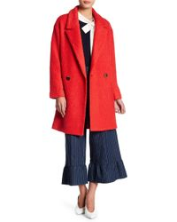 English Factory - Oversized Gold Button Boucle Coat - Lyst