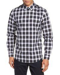 Calibrate - Non-iron Mini Plaid Sport Shirt - Lyst