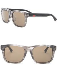 6f8f3a4f81c7a Lyst - Gucci 59mm Square Optical Glasses in Brown for Men