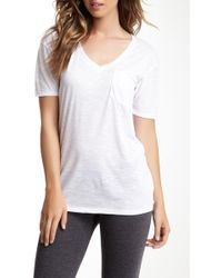 Go Couture - V-neck Pocket Tee - Lyst