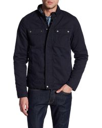 Indigo Star - Vince Stone Washed Moto Jacket - Lyst