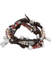 Uno De 50 - Summer Vibes Beaded Festival Leather Bracelet - Lyst