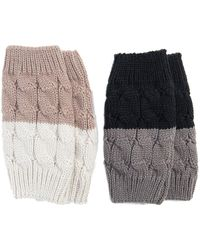 Muk Luks - Reversible Boot Toppers - Pack Of 2 - Lyst