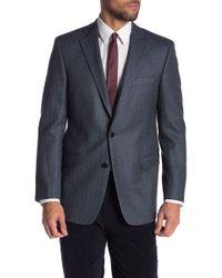 Brooks Brothers - Blue Herringbone Two Button Notch Lapel Wool Regent Fit Blazer - Lyst
