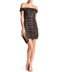 City Triangles - Lace Off-the-shoulder Dress - Lyst